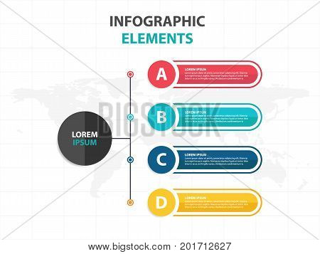Business Infographic timeline process template Colorful Banner text box desgin for presentation presentation for workflow diagram design