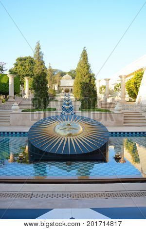 Sundial At The Oberoi Udaivilas Hotel
