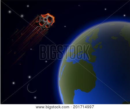 A Huge Asteroid Florence Flies Near To The Planet Earth. The Probability Of A Worldwide Catastrophe.