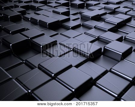 Metal Box Abstract Background