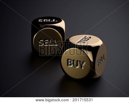 Buy Sell Golden Dices On Black