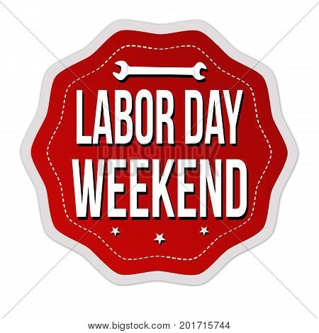 Labor Day Weekend Sticker Or Label