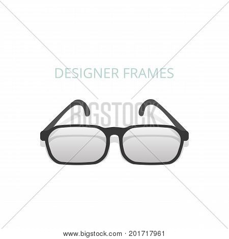 Eye glasses icon on white background . Vector .