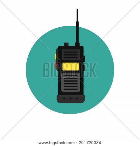 walkie talkie icon. police radio online. Vector illustration