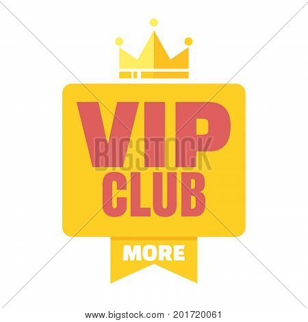 VIP club logo in flat style members only banner