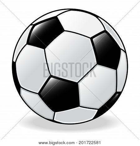 Isolated of Soccer ball. Football ball. on white Background. Vector Illustration