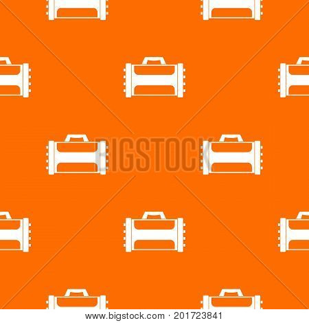 Welding machine pattern repeat seamless in orange color for any design. Vector geometric illustration