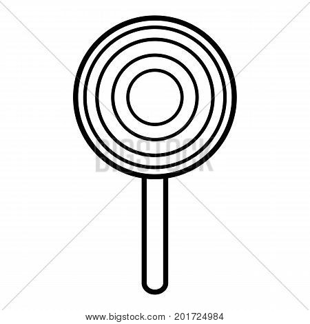 Lollipop icon. Outline illustration of lollipop vector icon for web