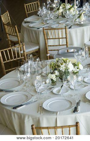 set tables at gathering