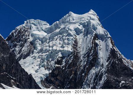 Beautiful mountains landscapes in Cordillera Huayhuash, Peru, South America