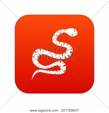 Black snake wriggling icon digital red for any design isolated on white vector illustration
