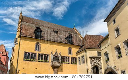 Altes Rathaus, the old town hall in Regensburg - Bavaria, Germany