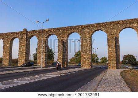 Aqueduct in Evora - Portugal