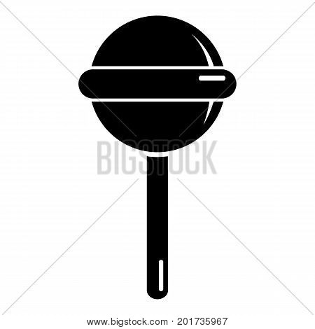 Round lollipop icon. Simple illustration of round lollipop vector icon for web