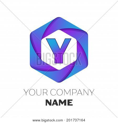 Letter y logo images illustrations vectors letter y logo stock realistic letter y vector logo symbol in the colorful hexagonal on white background vector template sciox Image collections