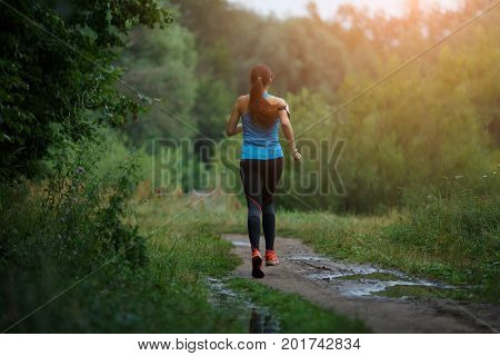 Image of young running girl