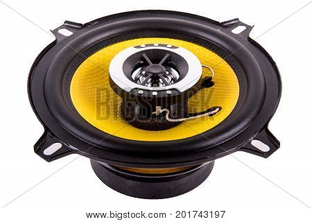 Audio equipment, one speaker on white background