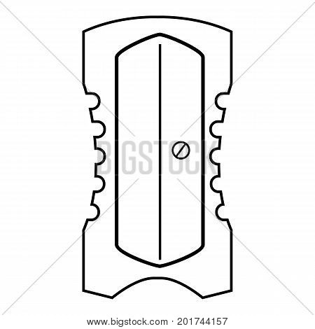 Sharpener icon. Outline illustration of sharpener vector icon for web