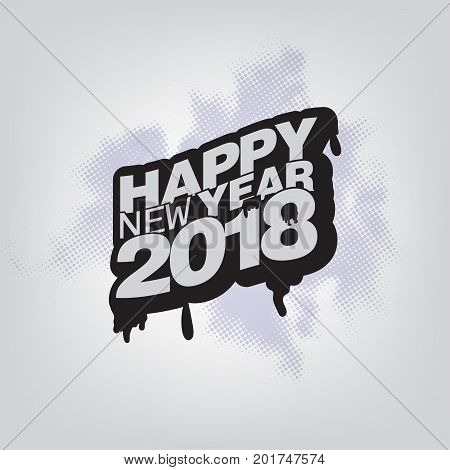 Happy New Year 2018 vector illustration Christmas background
