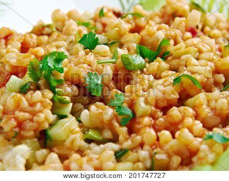 Kısır.bulgur Salad Or Meze