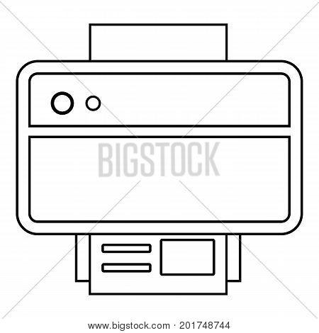 Printer icon. Outline illustration of printer vector icon for web