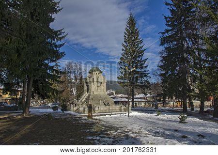 KOPRIVSHTITSA, BULGARIA - DECEMBER 13, 2013: Mausoleum Ossuary of Apriltsi  in historical town of Koprivshtitsa, Sofia Region, Bulgaria
