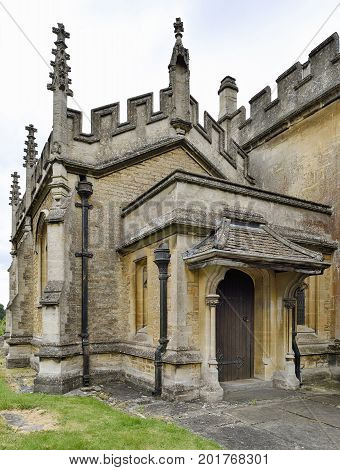 St. Andrews Church Porch Chippenham Wiltshire UK
