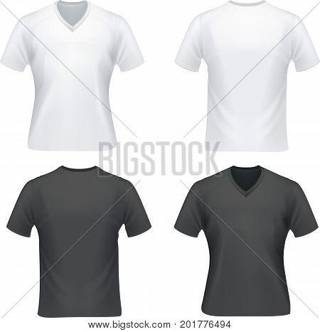 set t-short white and black on white background