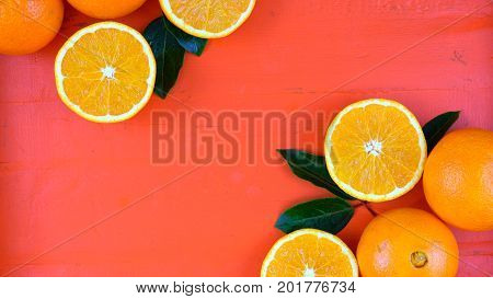Oranges On Orange Wood Table