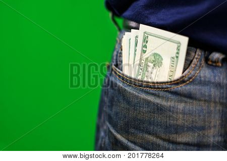 Usa Cash In Jeans Pocket