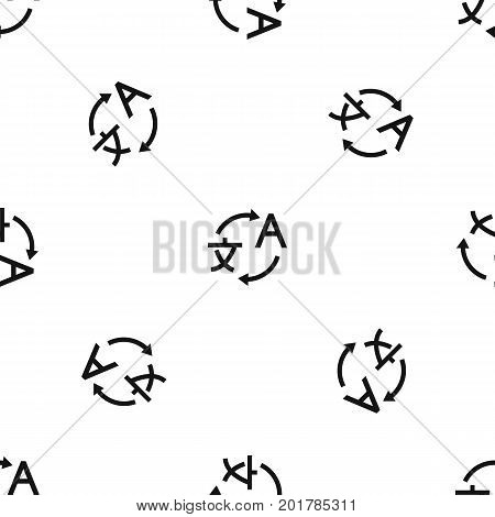 Translating pattern repeat seamless in black color for any design. Vector geometric illustration
