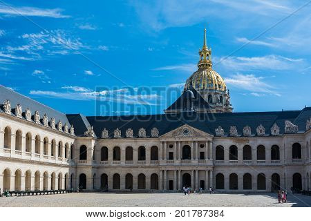 Paris France - August 14 2016: The Musee de l'Armée (Army Museum) is a national military museum of France located at Les Invalides in the 7th arrondissement of Paris.