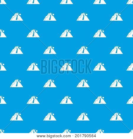 Rockfall pattern repeat seamless in blue color for any design. Vector geometric illustration