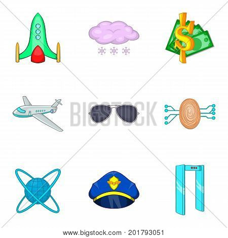 Buy a ticket icons set. Cartoon set of 9 buy a ticket vector icons for web isolated on white background
