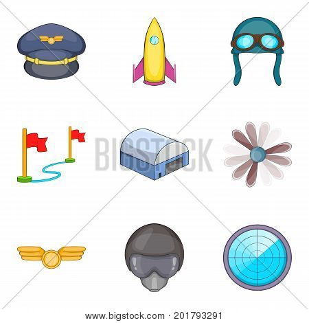 Evasion icons set. Cartoon set of 9 evasion vector icons for web isolated on white background