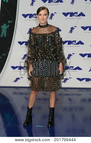 LOS ANGELES - AUG 27:  Millie Bobby Brown at the MTV Video Music Awards 2017 at The Forum on August 27, 2017 in Inglewood, CA