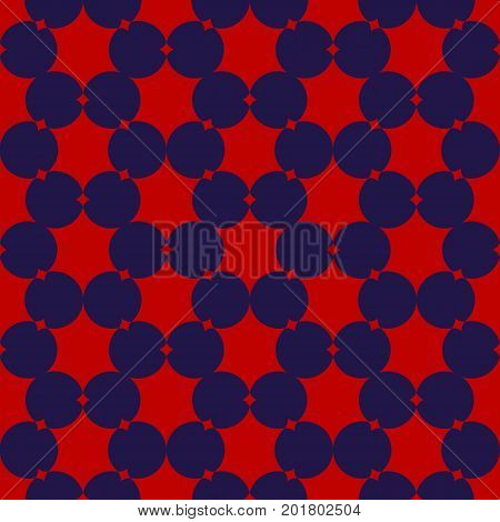 Seamless circle usa color style flower fabric pattern background