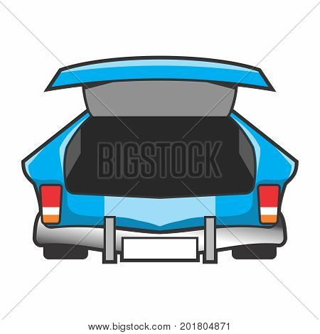 Vector Empty Open Trunk of a Car