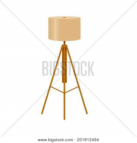 Colorful interior lamp light icon for your design. Flat cartoon lamp light isolated.The flow of light