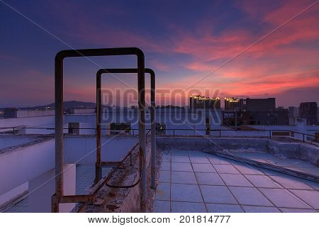 Xiamen City Guanyin Mountain Business District Rooftop