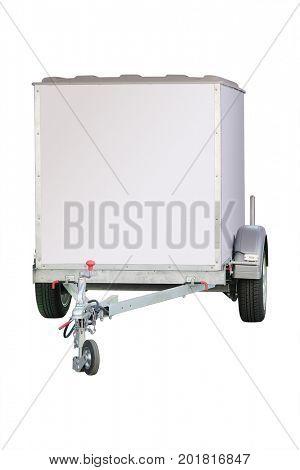 Car trailer isolated