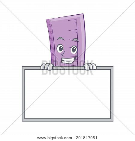 grinning with board ruler character cartoon design vector illustration