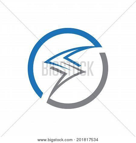 outlines of electric bolt illustration, bolt logo, symbol design, isolated on white background.