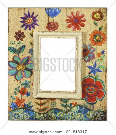 Picture Frame on an Isolated White Background