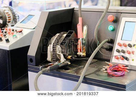 Diesel injector diagnostic and repair machine poster
