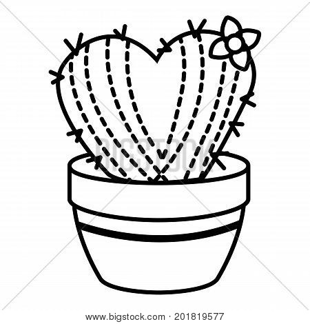 Needle heart cactus icon. Outline illustration of needle heart cactus vector icon for web