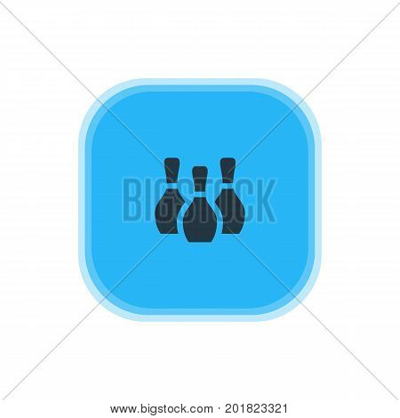 Beautiful Check-In Element Also Can Be Used As Skittles Element.  Vector Illustration Of Bowling Pins Icon.