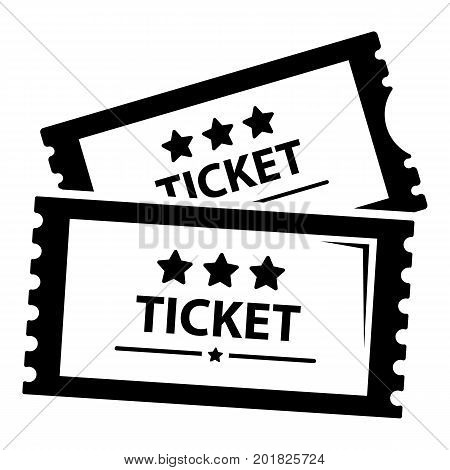 Cinema ticket icon. Simple illustration of cinema ticket vector icon for web