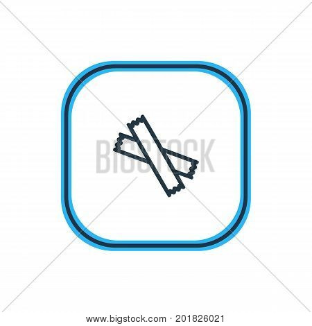 Beautiful Java Element Also Can Be Used As Sweetener Element.  Vector Illustration Of Sugar Outline.