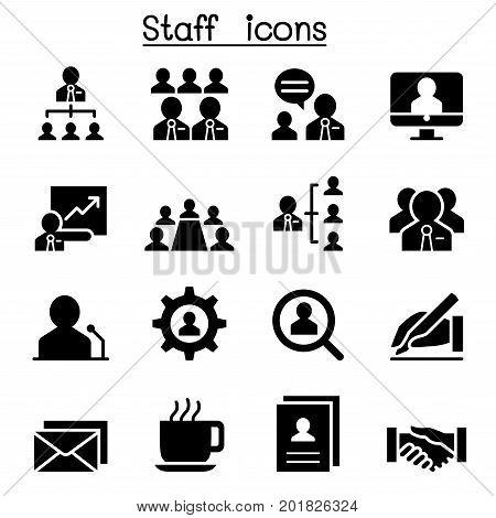 Staff icons set vector illustration graphic design